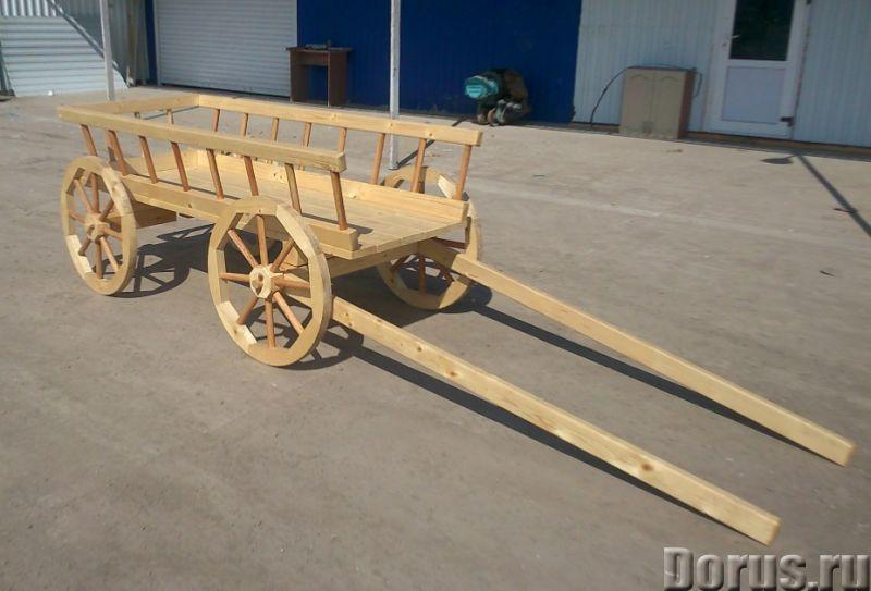 Деревянные телеги - Прочие товары - Изготовление декоративных деревянных телег для обустройства прид..., фото 1