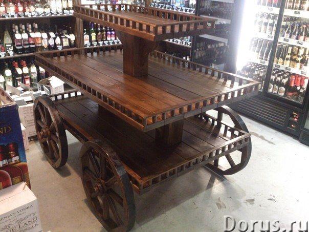 Деревянные телеги - Прочие товары - Изготовление декоративных деревянных телег для обустройства прид..., фото 3