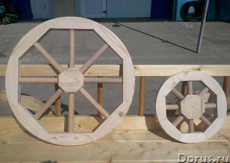 Колесо от телеги декоративное - Прочие товары - Деревянное колесо от телеги может быть использовано..., фото 2