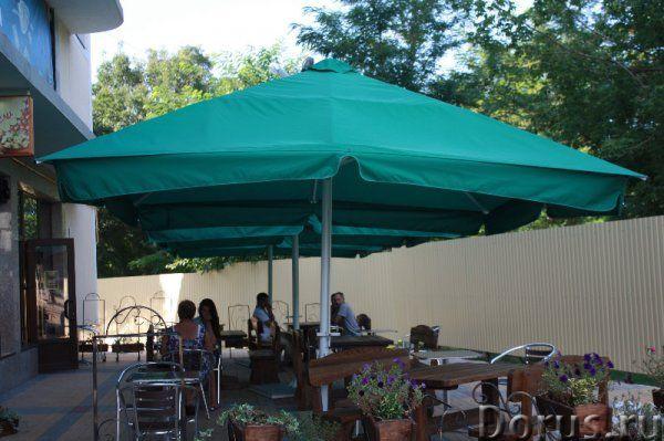 Зонт для кафе - Прочие товары - Зонт для кафе уличный, телескопический, 4,0х4,0 м., квадратный с цен..., фото 1