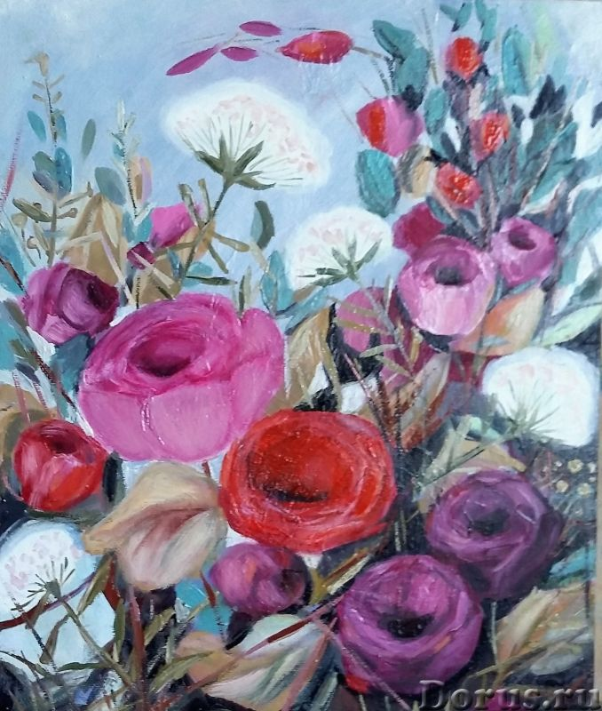 Вдохновение. Картина маслом - Искусство и коллекционирование - Лютики-цветочки. Яркие и не очень, но..., фото 1