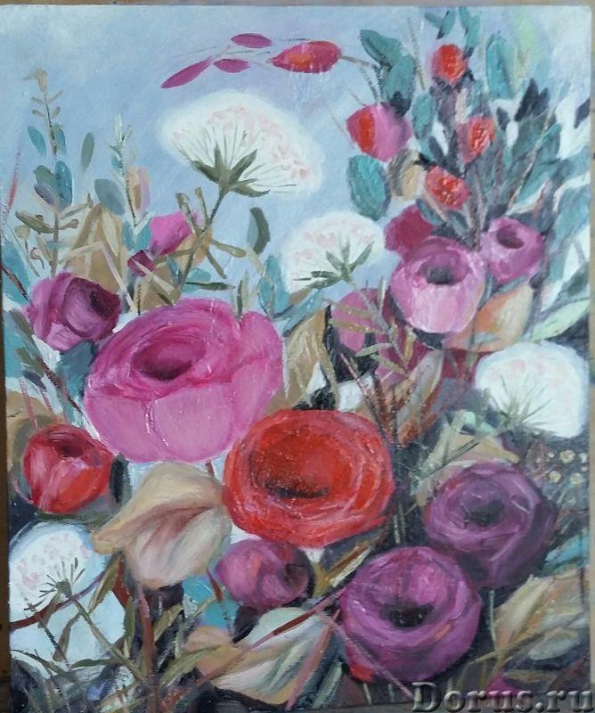 Вдохновение. Картина маслом - Искусство и коллекционирование - Лютики-цветочки. Яркие и не очень, но..., фото 2