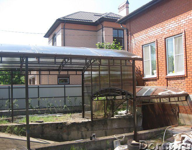 Навесы из сотового поликарбоната в Краснодаре - Строительные услуги - При оформлении и благоустройст..., фото 1
