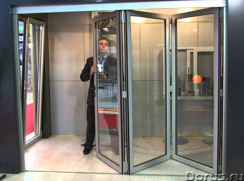 Двери гармошка - Материалы для строительства - Замеры, изготовление и монтаж дверей из алюминиевого..., фото 1